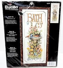 Bucilla To Dmc Floss Conversion Chart Bucilla Plaid Counted Cross Stitch Kit Bath 5 Cents 43479 New