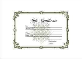 homemade gift certificate free pdf template
