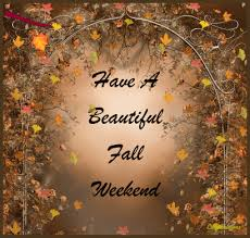 Image result for Falling leaves Wonderful Weekend gif