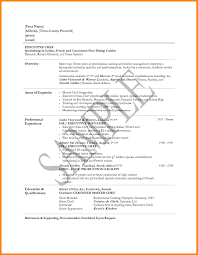 Template Ideas Of Executive Chef Resume Examples Sample Bunch