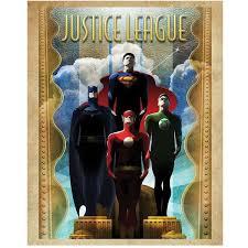 art deco posters dc comics poster