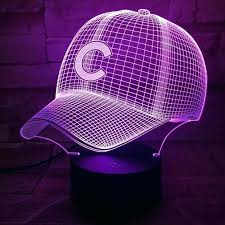 purple desk accessories um image for gorgeous color change led light baseball hat table lamp household