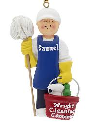 Cleaner House Janitor Male House Cleaner Personalized Ornament
