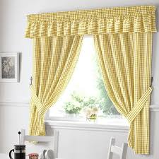 Yellow Gingham Kitchen Curtains