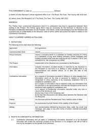 Nda Form Template Template Non Disclosure Agreement