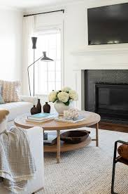 round coffee table styling studio mcgee