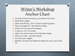 Writer S Workshop Anchor Charts