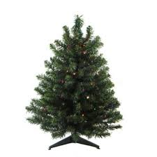Darice 3-Foot Pre-Lit Battery-Operated Artificial Christmas Tree with 100