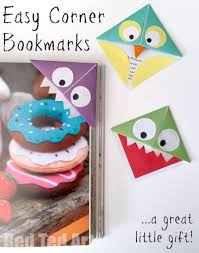easy origami corner bookmarks turn them into monsters owls and wherever your imagination takes