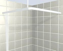 square shower curtain rod for corner shower areas croydex square shower curtain rod and rings