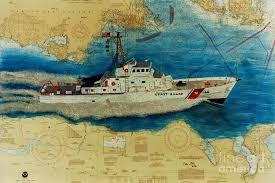Coast Guard Chart Art Uscg Cuttyhunk Cathy Peek Nautical Chart Map Art
