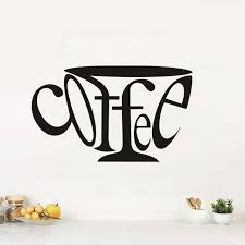 wall stickers letters coffee art creative kitchen diy vinyl home decals background wallpaper waterproof adhesive wall on adhesive wall art letters with wall stickers letters coffee art creative kitchen diy vinyl home