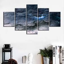 blue grey wall art