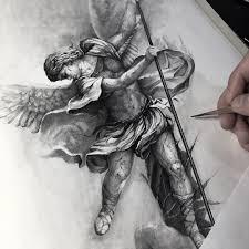 Pin By Sleng Tattoo On ангелы статуи эскиз тату шикарное тату