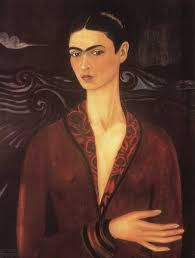 frida kahlo  self portrait in a velvet dress 1926 oil on canvas frida kahlo