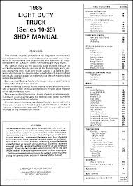1984 1985 chevrolet truck shop manuals cd pickup blazer suburban 1984 1985 chevrolet truck shop manuals cd pickup blazer suburban van fc
