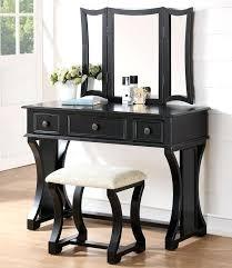 black makeup vanity set table w bench