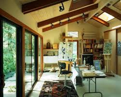 Studio Design Ideas Small Home Art Studio Design With Large Windows And Wooden Floor Art Studio Design Ideas