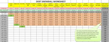 Debt Payoff Excel Free Debt Snowball Excel Worksheet With Chart Debt Free Debt