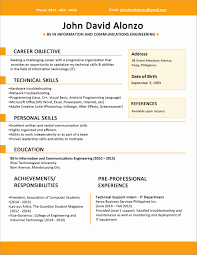 Format Of Resume For Fresher Engineers Pdf Lovely Resumes Sample