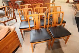 Consign Design Edmonton Set Of 8 Vintage Teak Chairs Consign Design Edmonton