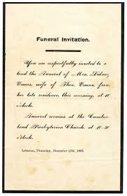 Invitation For Funeral Invitation To A Funeral Complete Guide Example 6