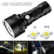 LED güçlü el feneri şarj edilebilir süper parlak uzun menzilli yüksek güçlü  açık ev projektör J8 #3|Portable Spotlights