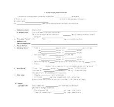 Simple Service Contract Basic Service Contract Template Simple Level Agreement Example