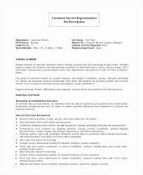 Resume Job Description Beauteous Logistics Customer Service Job Description For Resume Advanced