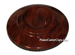 Piano Caster Cup with Wood Grian Design