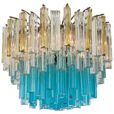 1960s vintage murano glass chandelier for
