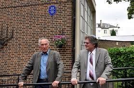 Belsize Square blue plaque Frank Harding (AJR Trustee) & Rabbi Altshuler –  AJR