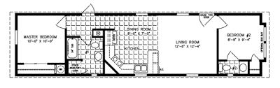 Two Bedroom Mobile Homes l 2 Bedroom Floor Plans