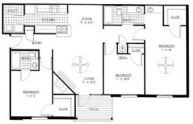 Bedroom Apartment Floor Plans Design On Bdrm House Plans