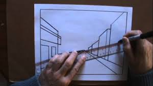 Dessiner La Perspective 1 4 Le Point De Fuite Le On De Dessin Cour