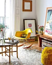 Eames Rocker Yellow Accent Chairs