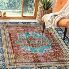 spread an orange silk carpet to add a touch of bright color for your home pre symbols in persian rugs