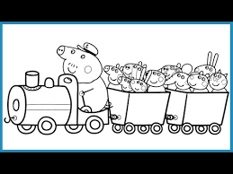 Small Picture Peppa Pig and Her Friends in Train Coloring Book Pages Kids Fun