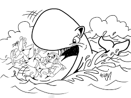 Free Printable Jonah And The Whale Coloring Pages To Download Free