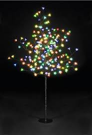 Cherry Blossom Christmas Lights 5ft Multi Function Cherry Blossom Tree With 200 Multi Coloured Leds