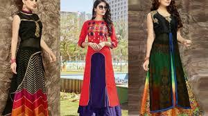 Banarasi Kurti Ke Design Kurti With Skirt Style Dress Evening Party Kurti Design By