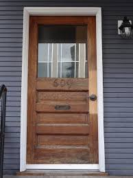 elegant wood and glass front door 12