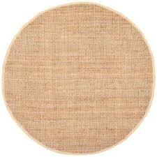 natural fiber beige 7 ft x 7 ft round area rug