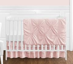 solid color blush pink shabby chic harper baby girl crib bedding set without per by sweet jojo designs 4 pieces only 139 99