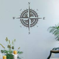 <b>Classic Compass</b> Rose - <b>Wall Decals</b> - for C | Nautical <b>wall decal</b> ...