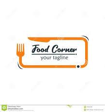 Image Size For Logo Design Modern Food Logo Design Template Vector Illustration