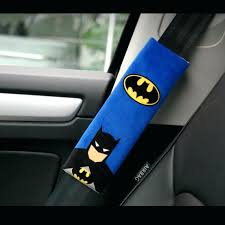seat belt cover 1 pair cartoon car seat belt cover batman superman auto shoulder protection padding seat belt cover