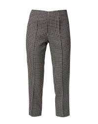 Audrey Black and White Checked Wool Pant | Piazza Sempione | Halsbrook