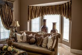 living room curtains with valance. Dining Room : A Fabulous Curtain Valances For Living In Marvelous Brownish Grey With Luxurioua Furnitures Such As Big Vases, Couchs, Curtains Valance E