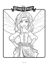 Small Picture Tinkerbell and The Pirate Fairy Colouring 3